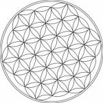 Chakra healing flower of life symbol