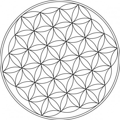 Advanced chakra healing with flower of life symbol