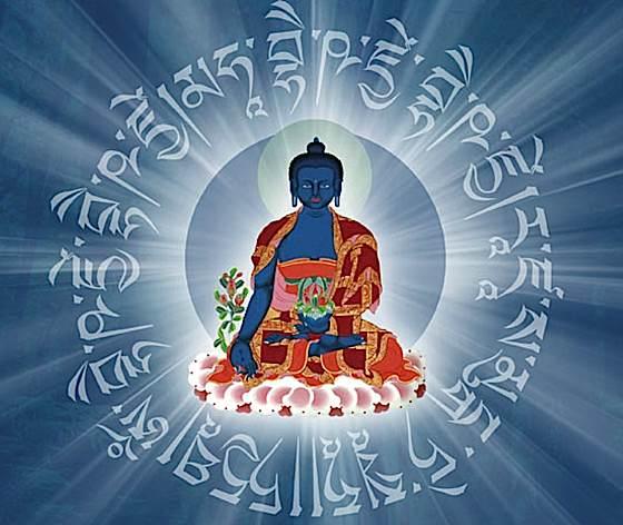 Medicine Buddha mantra hologram